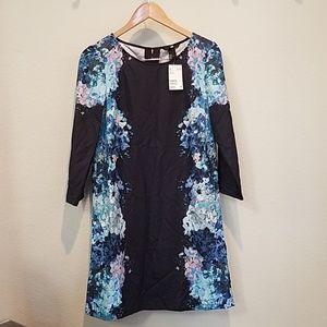 H&M Black floral graphic dress